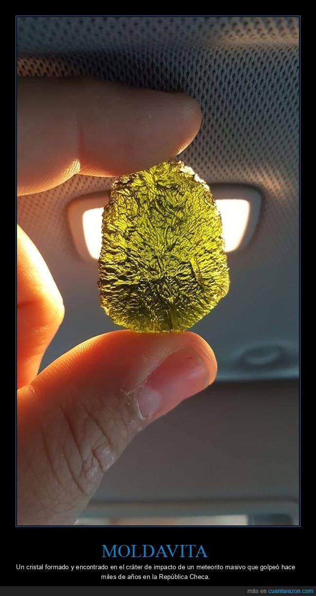 cristal,meteorito,moldavita