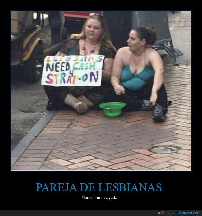 dinero,lesbianas,pareja,pidiendo