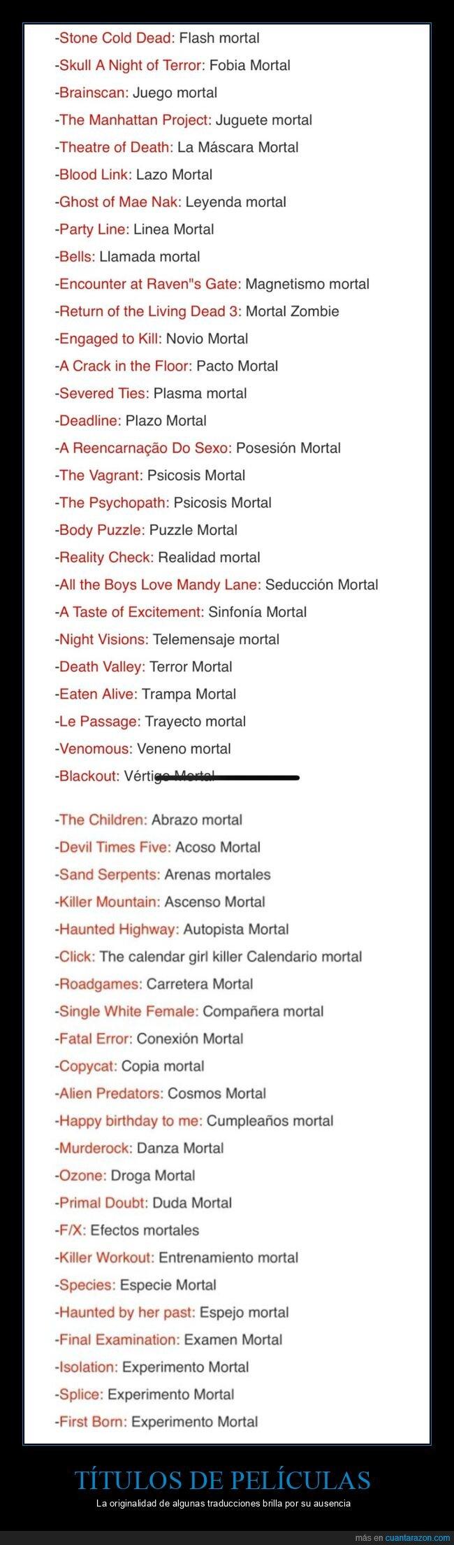 mortal,películas,títulos