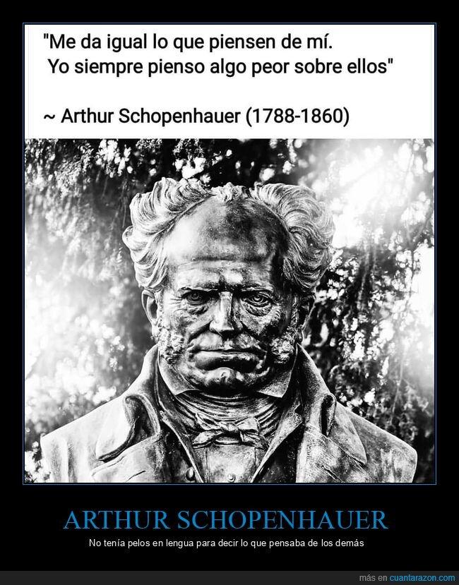 dar igual,demás,pensar,schopenhauer