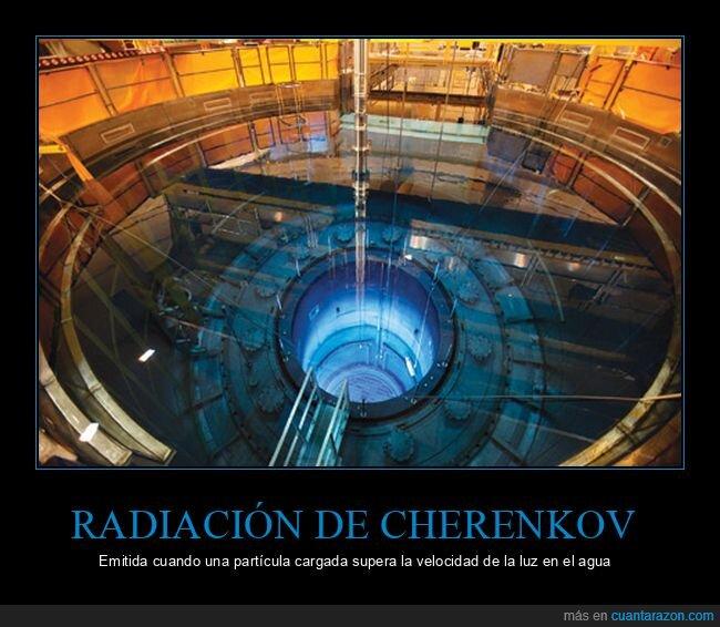 azul,cherenkov,radiación,reactor nuclear