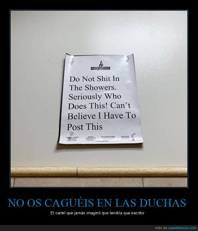cagarse,cartel,duchas,wtf