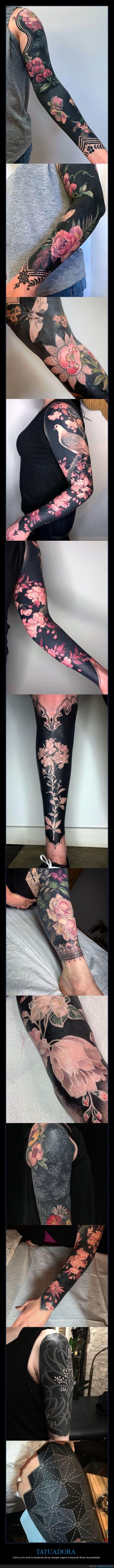 flores renacentistas,negros,tatuadora,tatuajes