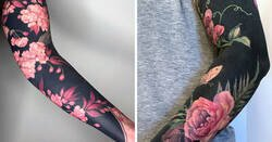 Enlace a Esta tatuadora llevó a otro nivel la tendencia de los tatuajes negros incluyendo flores renacentistas
