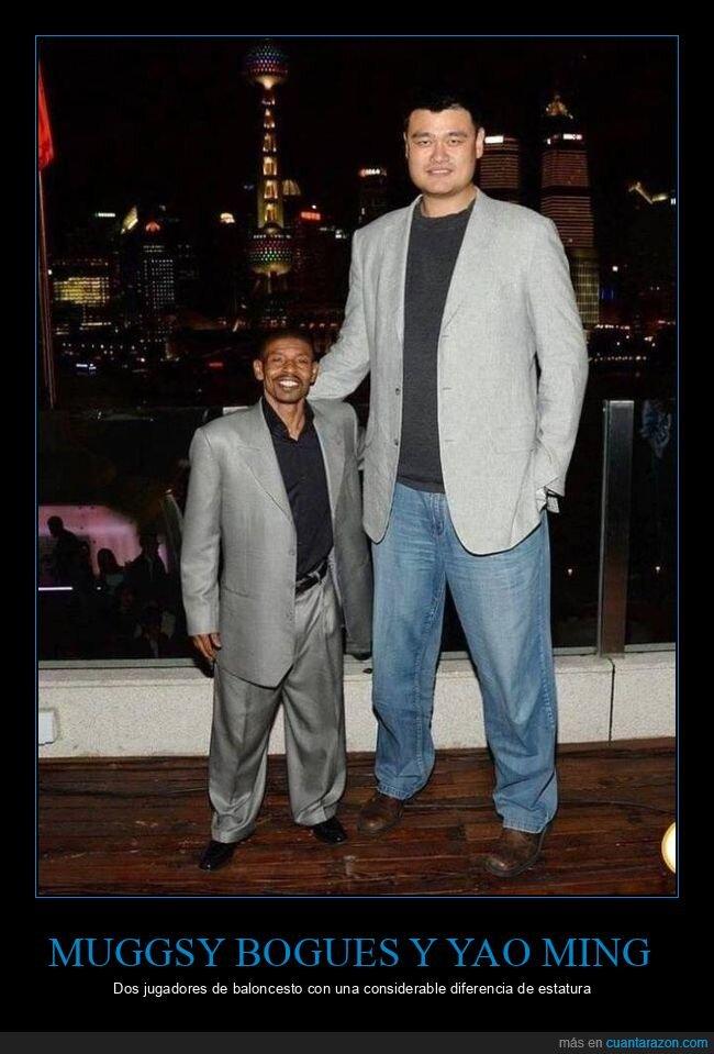 baloncesto,diferencia,estatura,muggsy bogues,yao ming