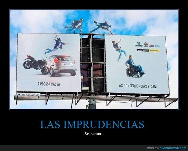 accidente,anuncio,coche,moto,silla de ruedas