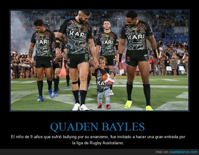 bullying,enanismo,gran entrada,quaden bayles,rugby