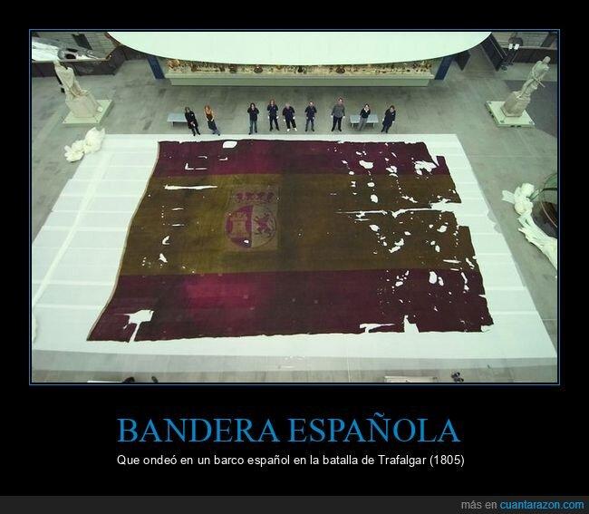 bandera,barco,batalla de trafalgar,española