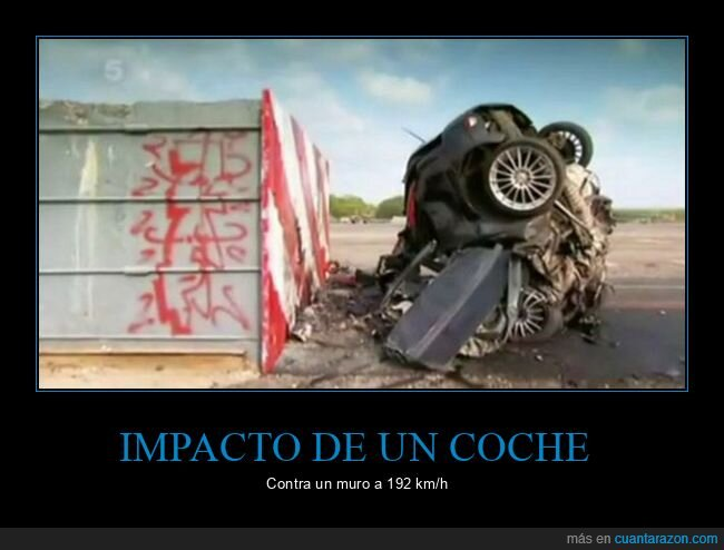 coche,impacto,muro,velocidad