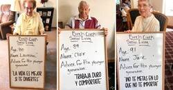 Enlace a Sabios ancianos de un asilo comparten sus consejos de vida a las nuevas generaciones