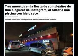 Enlace a Fiesta de instagramer con trágico final