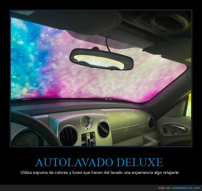 autolavado,coche,colores,espuma,luces