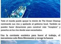 """Enlace a El """"genio"""" que dijo que haría que los mares se limpiaran solos ha creado barcazas movidas por energía solar para limpiar ríos"""