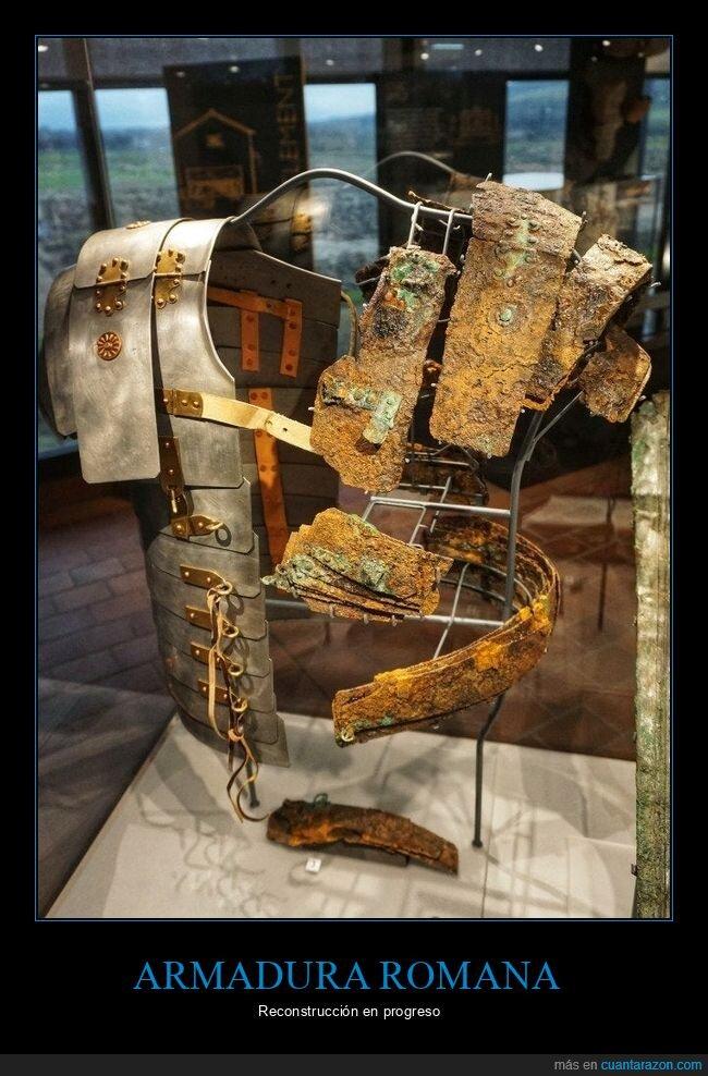 armadura romana,curiosidades,reconstrucción