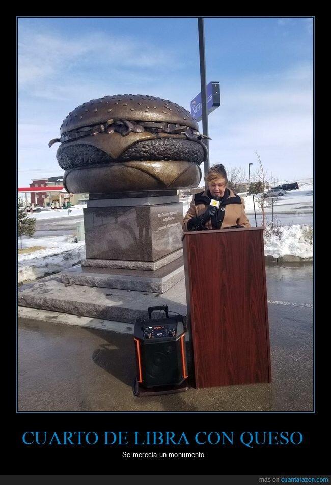 cuarto de libra,escultura,hamburguesa