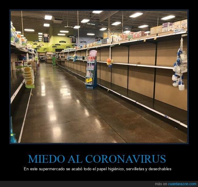 coronavirus,miedo,supermercado