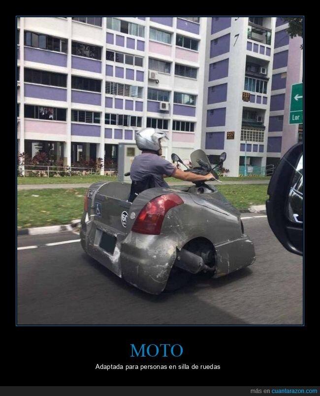 moto,silla de ruedas,wtf