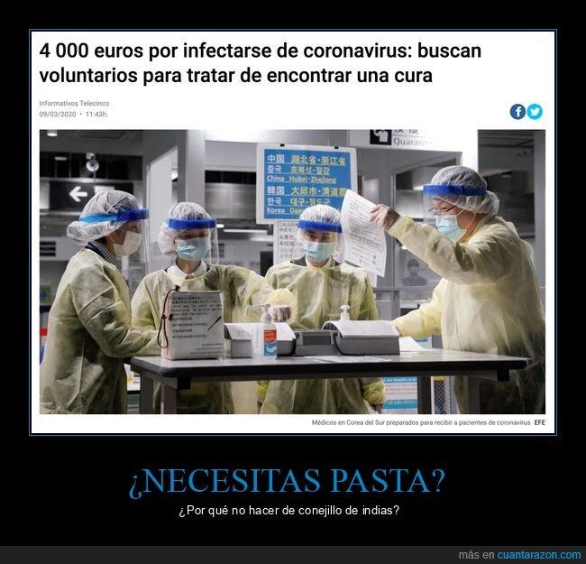 coronavirus,cura,infectarse,voluntarios