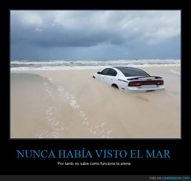 arena,coche,fails,playa