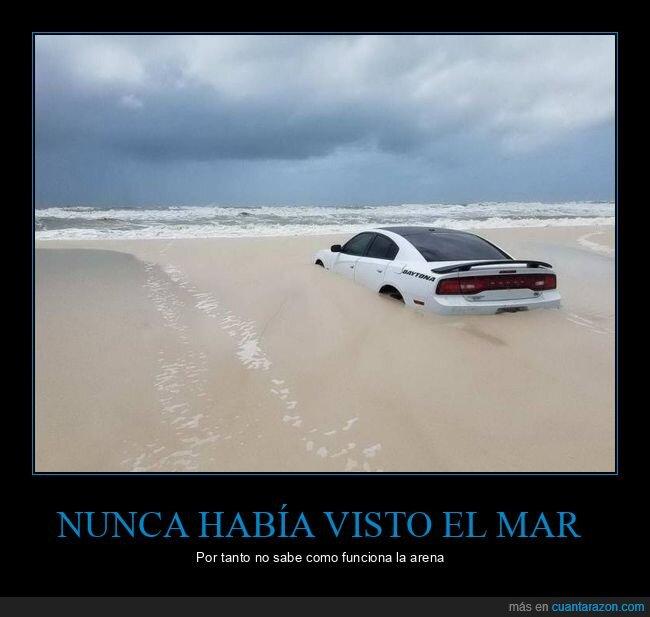 arena,coche,fails,playa