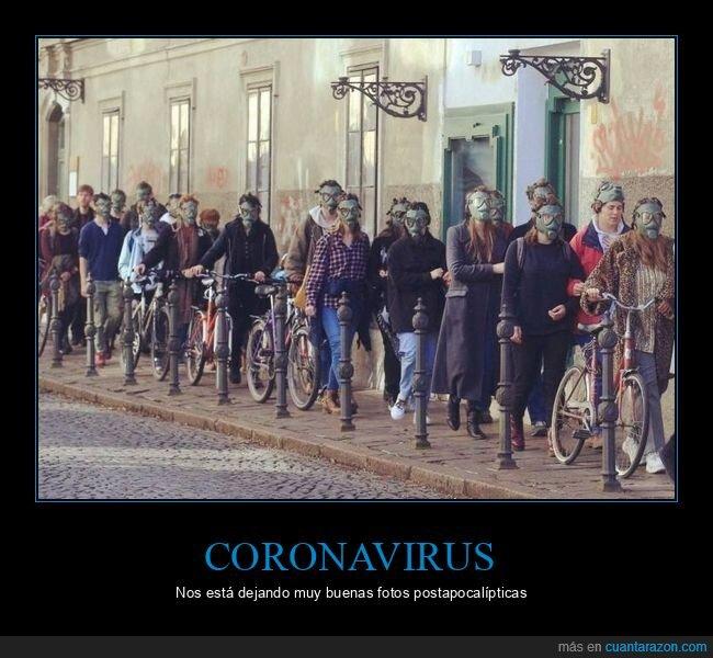 coronavirus,máscaras de gas,wtf