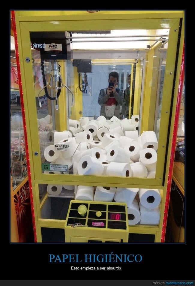 máquina de gancho,papel higiénico,wtf