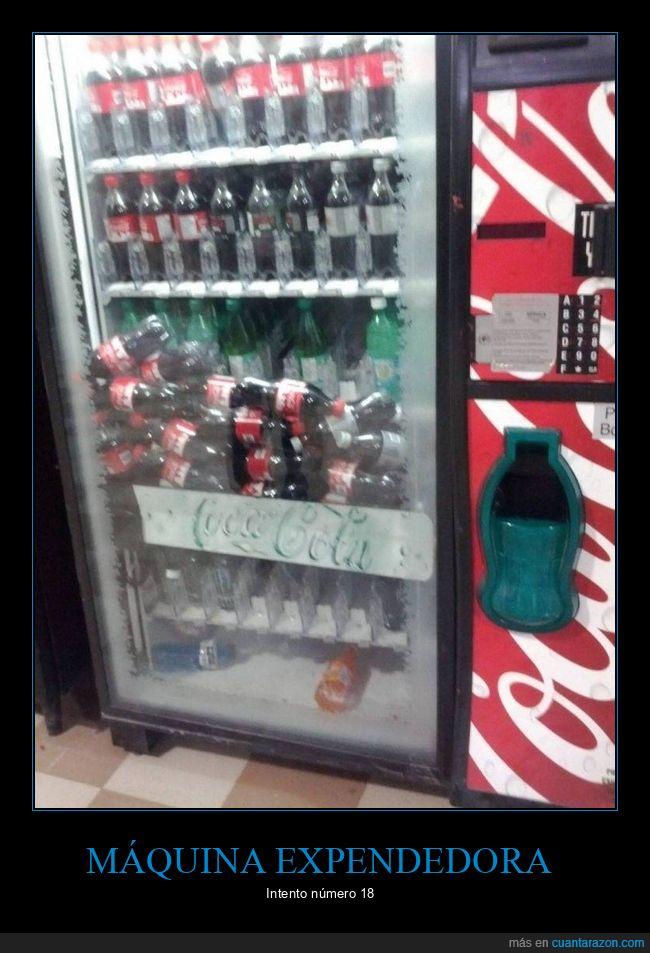 cocacola,fails,máquina expendedora
