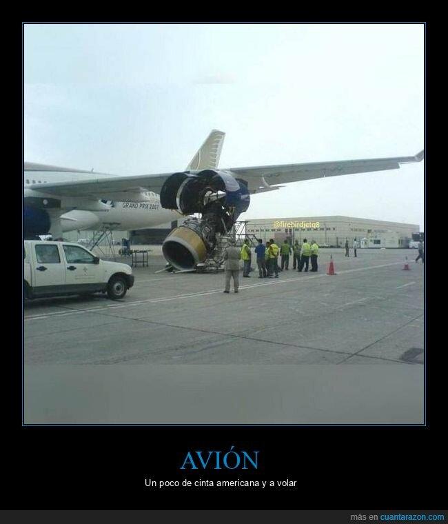 avión,fails,motor