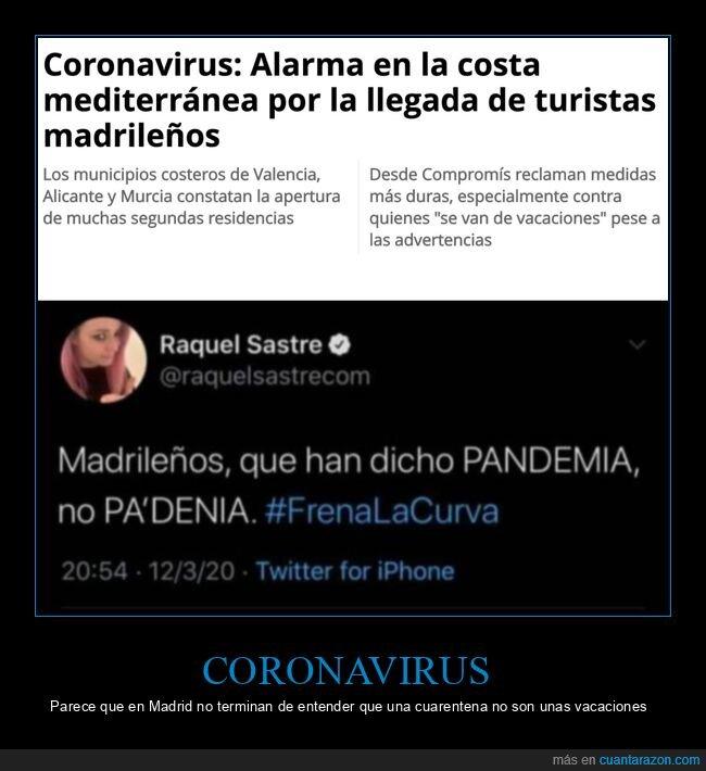 coronavirus,costa mediterránea,madrileños,turistas