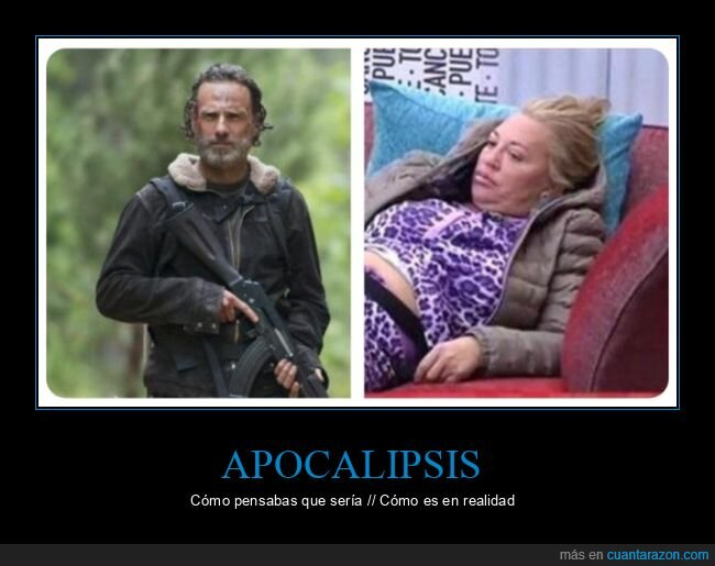 apocalipsis,belén esteban,expectativas,realidad,the walking dead