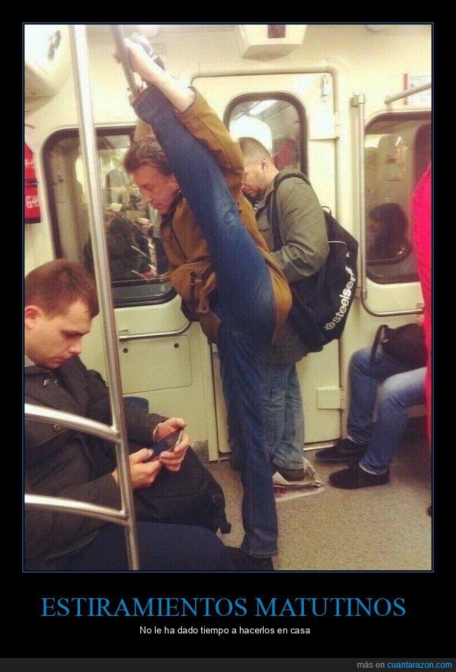 estiramiento,metro,wtf