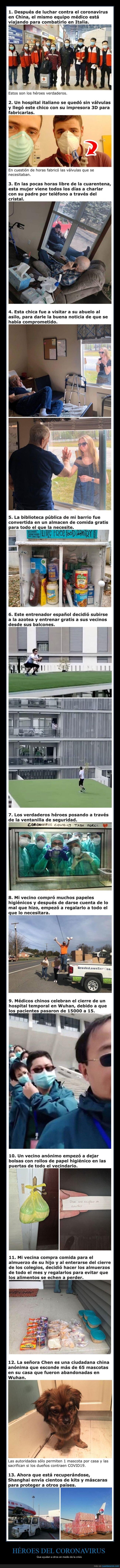 ayudar,coronavirus,héroes