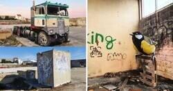 Enlace a Artista portugués convierte lugares abandonados en increíbles obras de arte en 3D