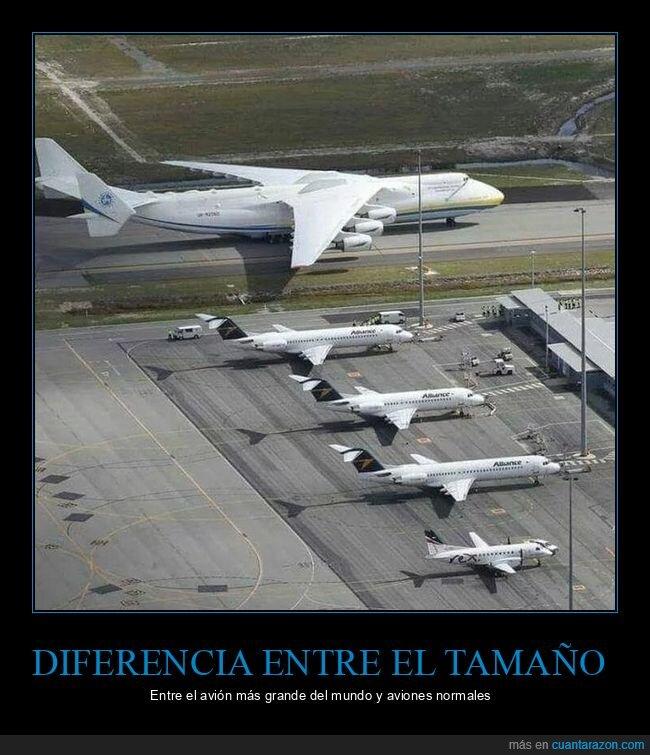 avión,diferencia,grande,tamaño