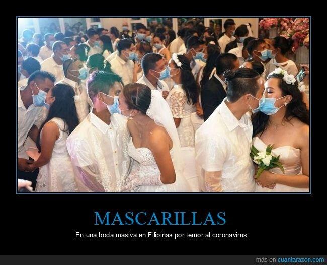 boda,coronavirus,filipinas,mascarillas