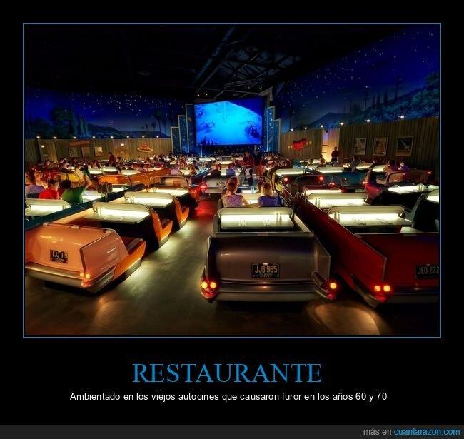 autocine,restaurante