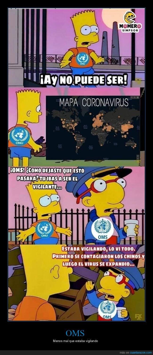 bart,coronavirus,milhouse,oms,onu,simpsons