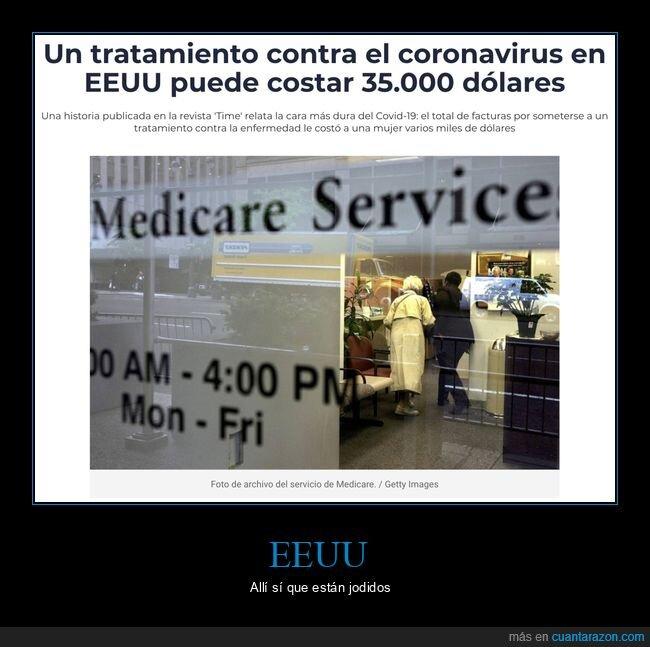 coronavirus,eeuu,precio,tratamiento