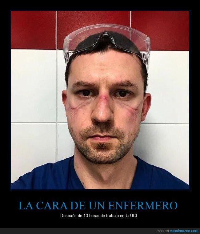 cara,coronavirus,efermero,trabajo,uci