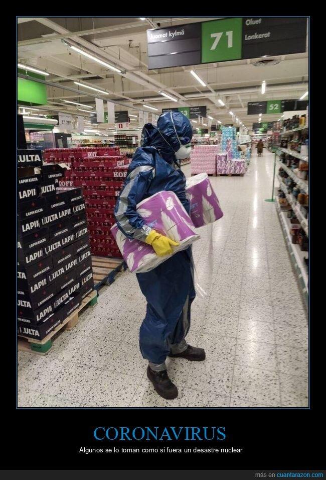 coronavirus,papel higiénico,preotección,supermercado