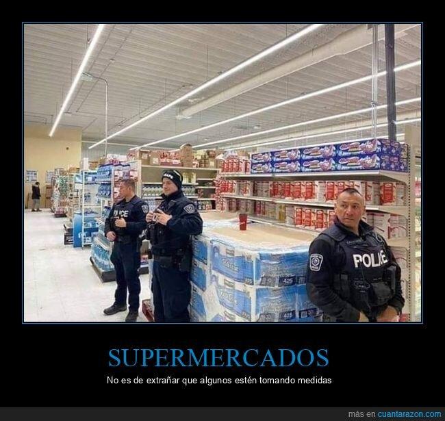 coronavirus,papel higiénico,policía,supermercado