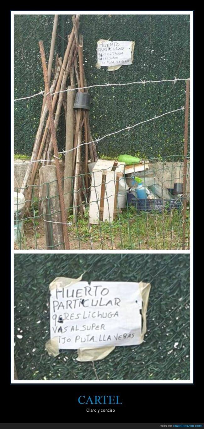 cartel,huerto,ortografía,wtf