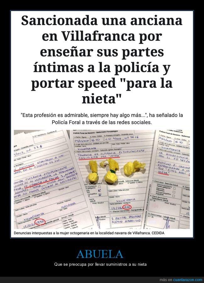 abuela,coronavirus,cuarentena,policía,speed,wtf