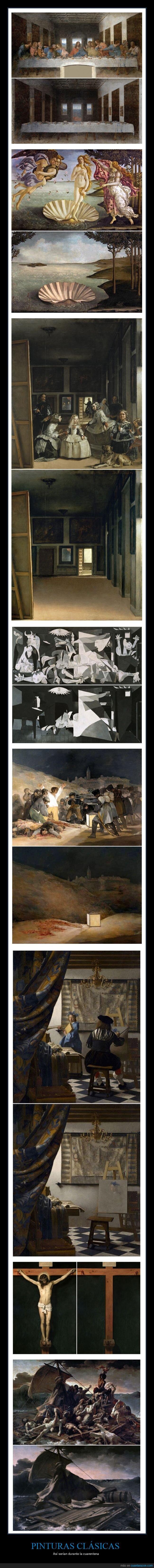 coronavirus,cuadros,cuarentena,pinturas