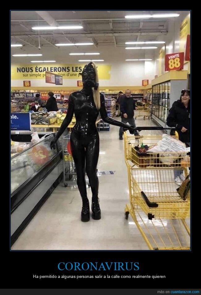 coronavirus,supermercado,traje
