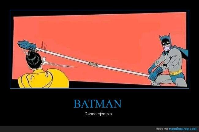 batman,bofetada,coronavirus,distanciamiento social,robin