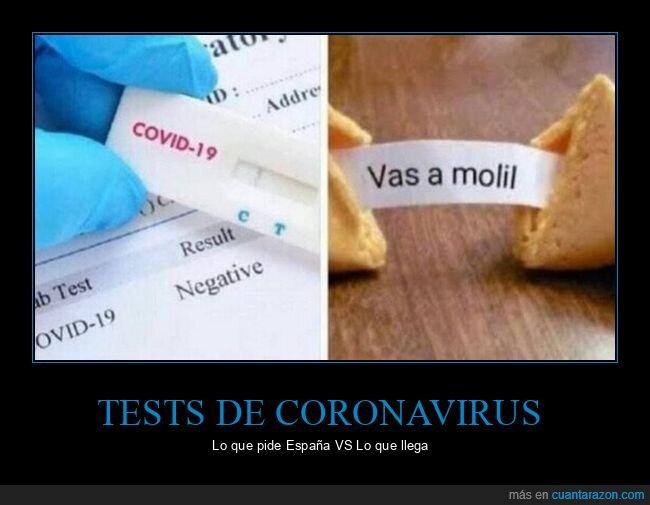 aliexpress,coronavirus,españa,galleta de la fortuna,pedir,test