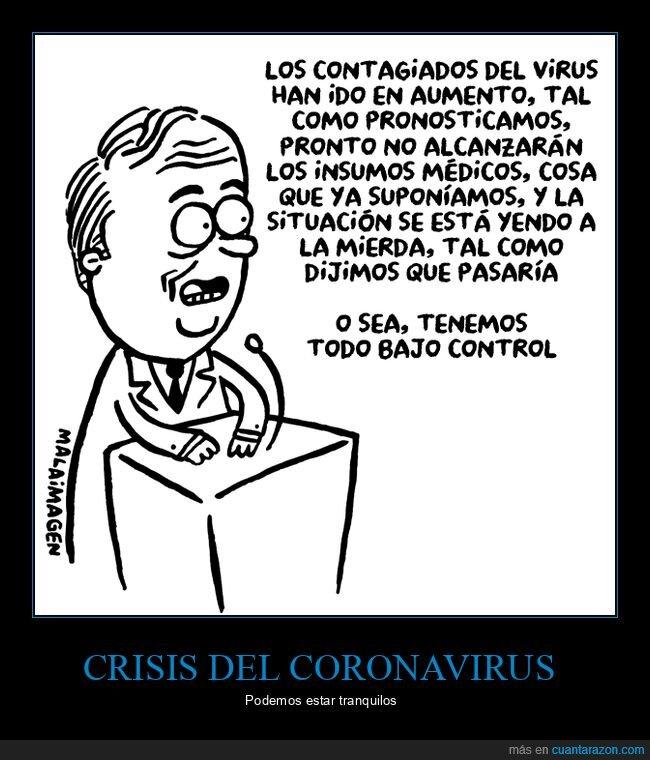 bajo control,coronavirus,políticos