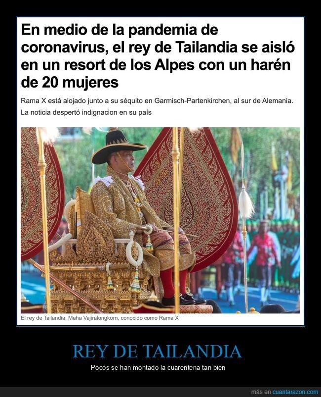 coronavirus,harén,rey,tailandia