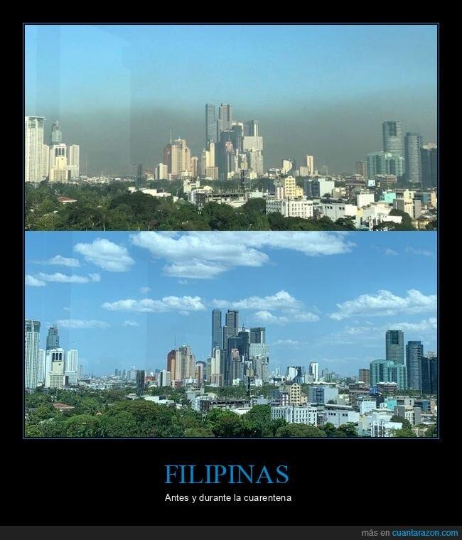 ahora,antes,coronavirus,cuerantena,filipinas